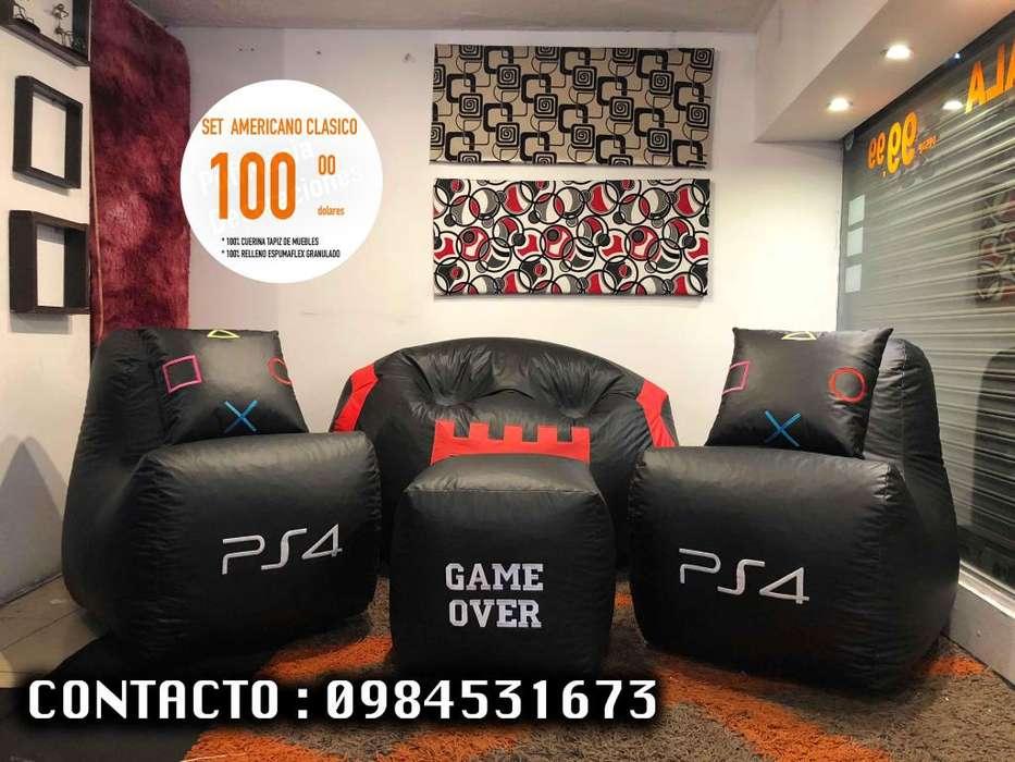 JUEGO DE SALA PUFF <strong>sofa</strong>S SILLONES BUTACAS MUEBLES DESDE 100 DOLARES