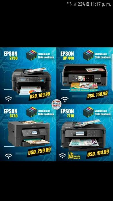 Impresoras Tinta Continua Epson Xp 440