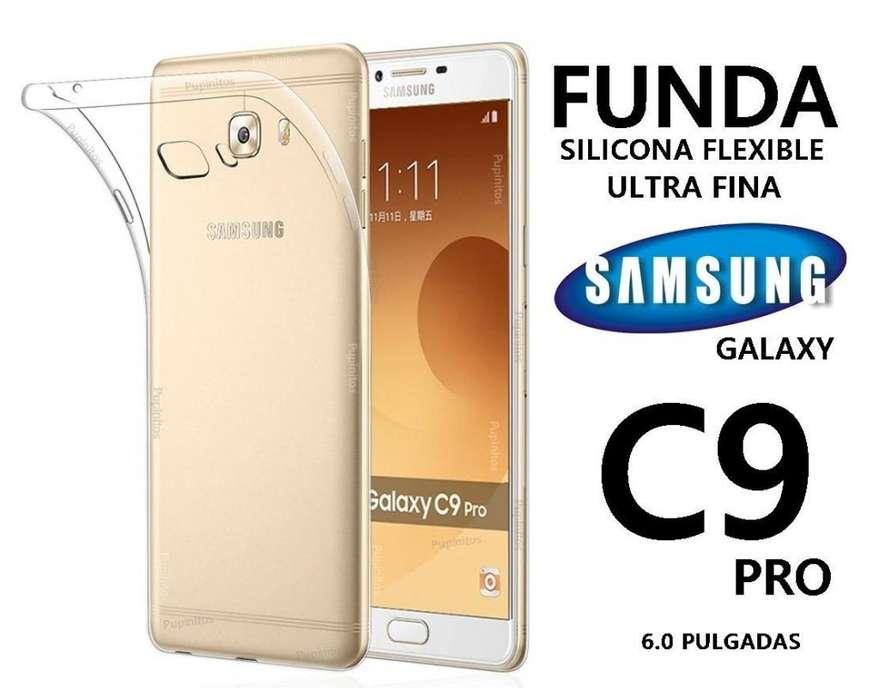 Funda Tpu Cover Silicona Transparente Samsung C9 Pro Rosario