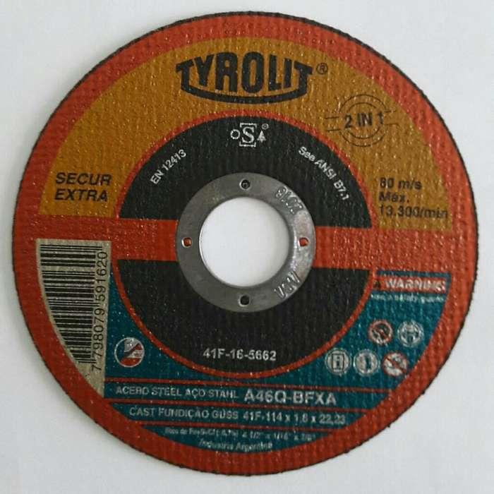 Disco de Corte Tyrolit Plano 114 X 1.60