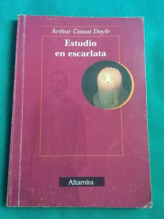 Estudio en Escarlata . Conan Doyle . Libro editorial Altamira