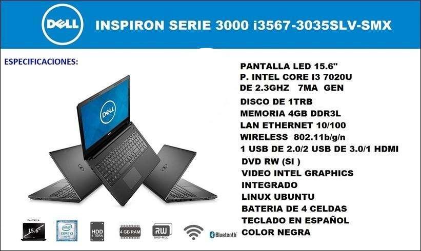 portatil Dell inspiron serie 3000 corei3