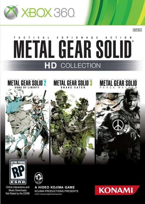 metal gear solid hd collection juego xbox 360 original envio gratis en montevideo