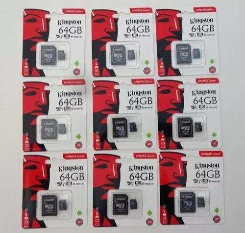 micro sd 64gb Clase 10 nuevos, servicio de envio gratuito