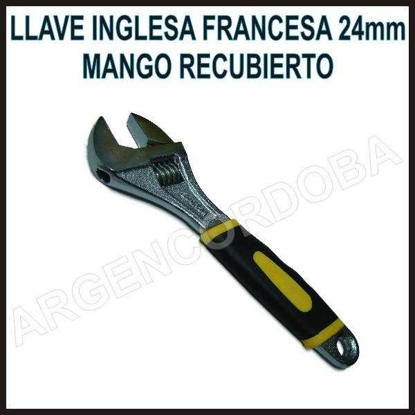 LLAVE INGLESA FRANCESA 24MM MEDIDAS GRABADAS MANGO RECUBIERTO