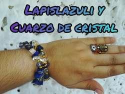 Pulseras Lapislazuli Y Cuarzo de Cristal