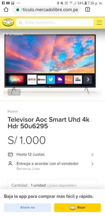 Tv AOC SMART UHD 4K 50U6295