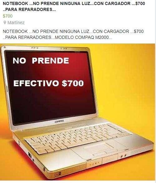 LLEVALA X 700 CON CARGADOR,, NO PRENDE LUCES NINGUNA ,,,NO ARRANCA,,SOLO ENTENDIDOS,,