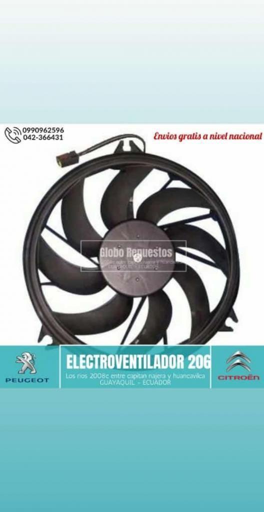 REPUESTOS PEUGEOT 206 207 1.4 1.6 ELECTROVENTILADOR GUAYAQUIL QUITO MANTA MACHALA LOJA CUENCA 0990962596