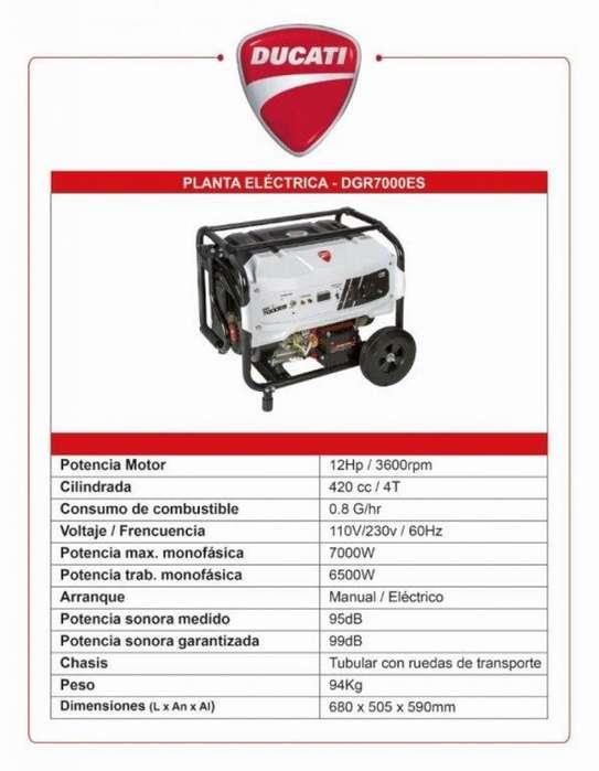 Planta Eléctrica Marca Ducati 7000ES