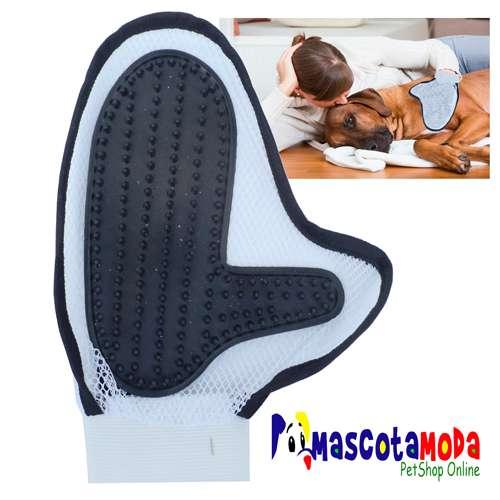 Cepillo guante para perros da masaje limpia y elimina pelo muerto