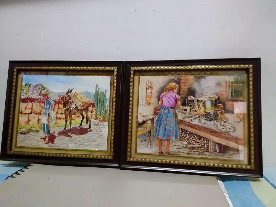 Hermosos cuadros pequeños Tema del campo Decorativos