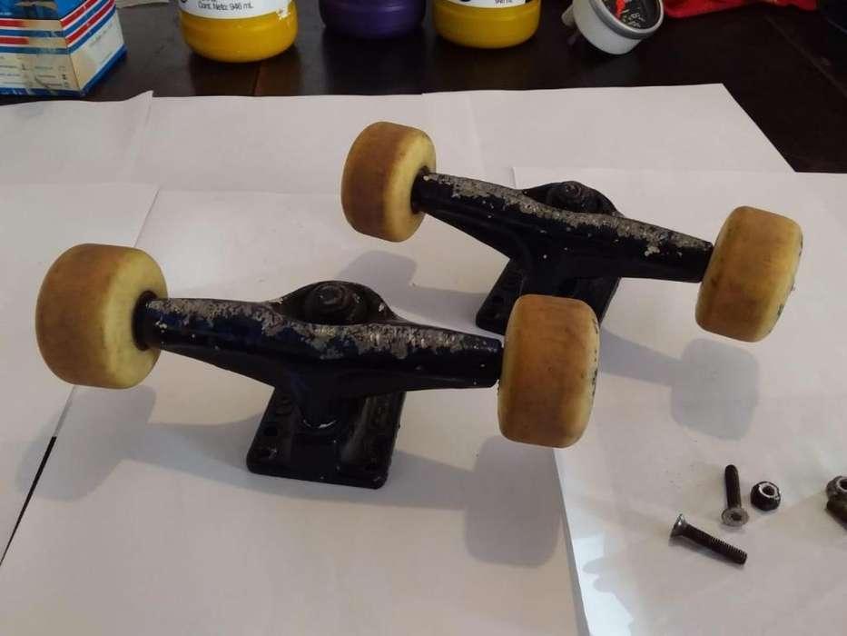 trucks y ruedas de skata roll arg