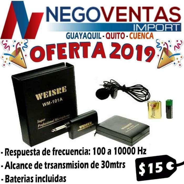MICROFONO INALAMBRICO TRASMISION A 30 METROS INCLUYE <strong>bateria</strong>S