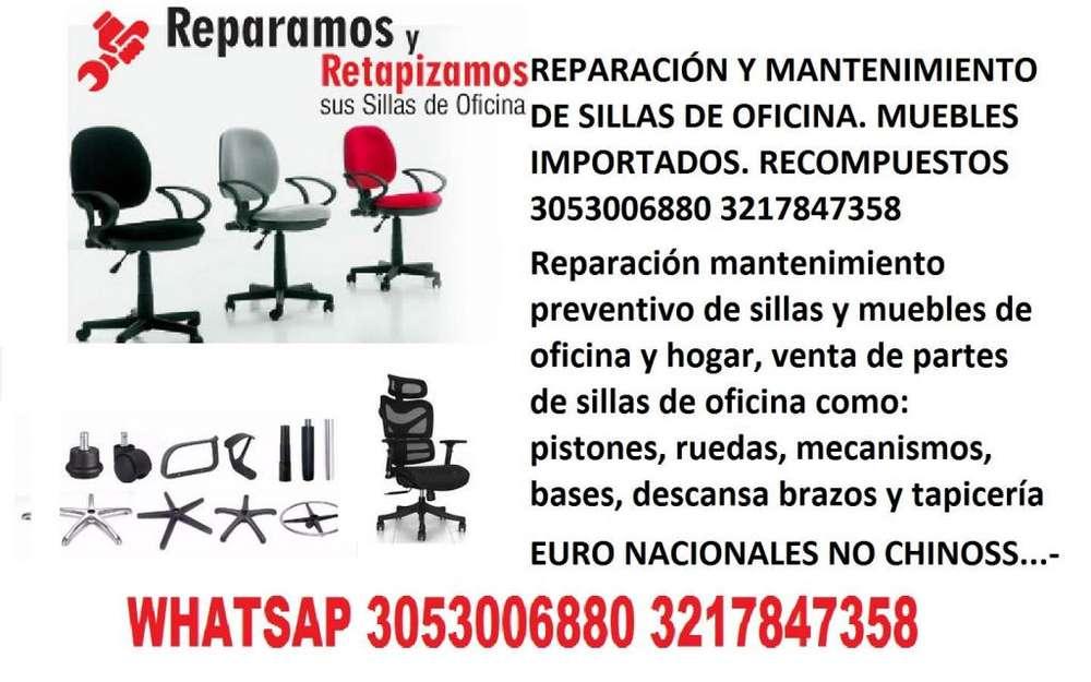 sillas de oficina venta de repuestops reparacion