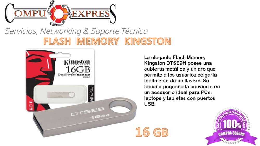 FLASH MEMORY 16GB KINGSTON SE9