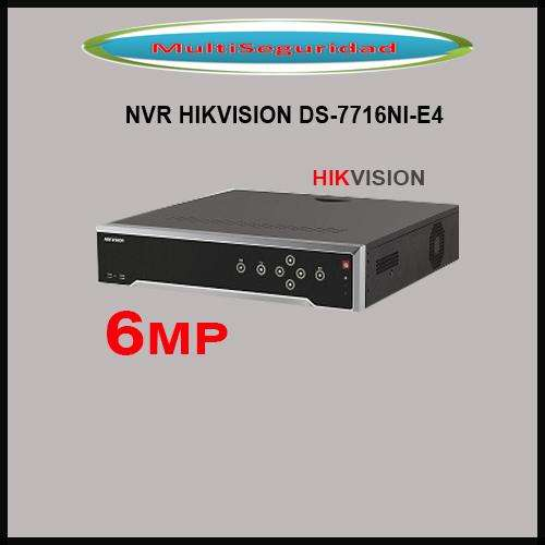 NVR HIKVISION DS7716NIE4 HASTA 6MP METALICO HASTA 4HDD
