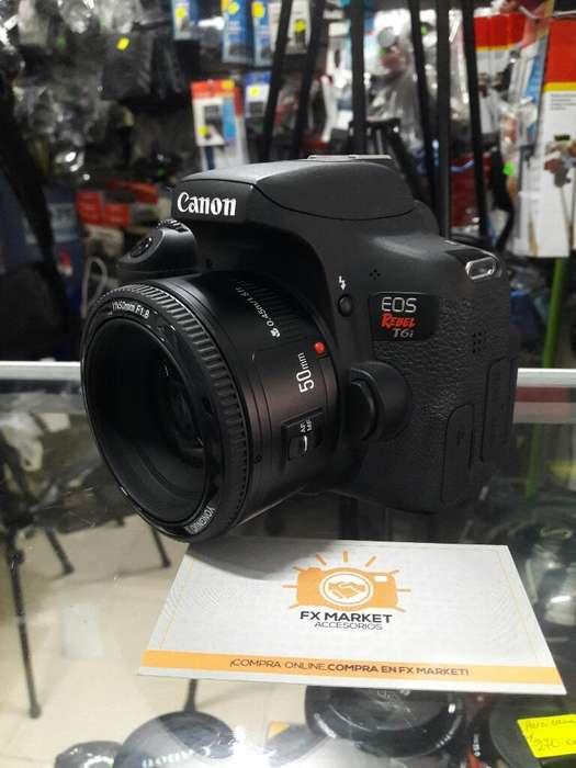 Canon Rebel T6i Yn50mm Estuche