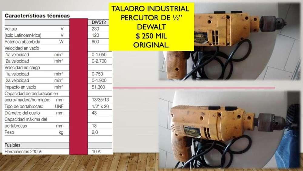 TALADRO INDUSTRIAL 1/2 DeWALT ORIGINAL
