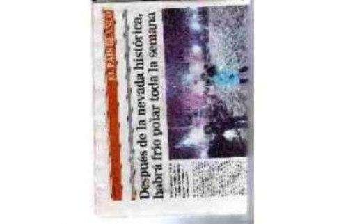 Diario La Razón 10/07/2007. Histórica Nevada En Bs As¡¡¡¡¡¡¡