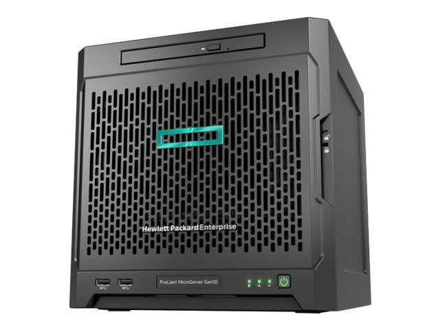 Servidor - HPE ProLiant MicroServer Gen10 Solution - microtorre ultra mas 2 Discos duros 1TB