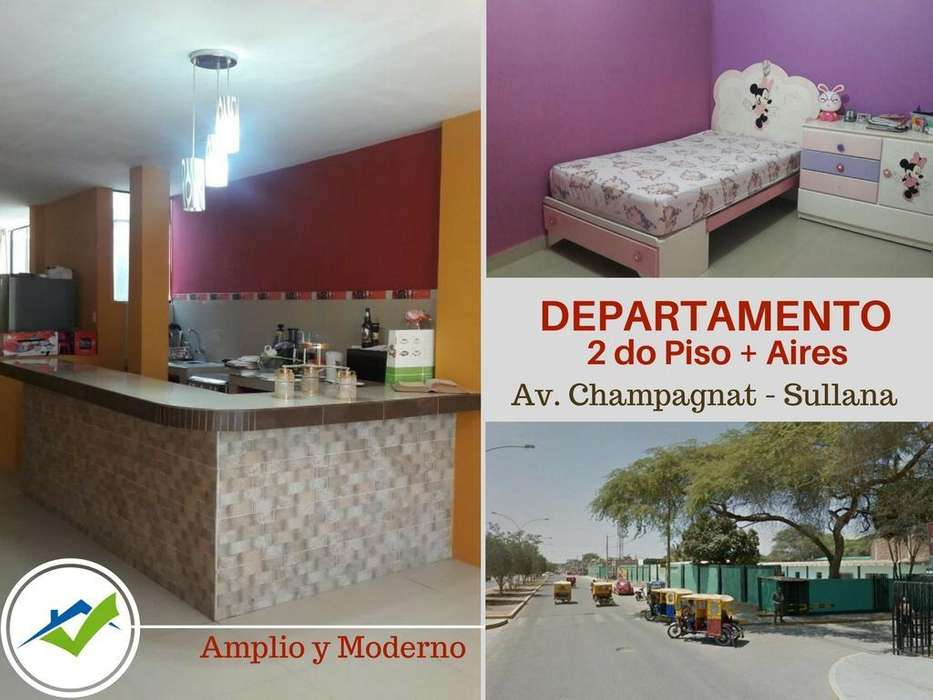 Departamento en 2do Piso - Sullana, Av Champagnat - wasi_928063