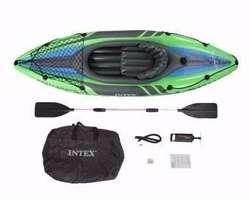 Kayak Canoa Intex Challenger K 1 Inflable C/ Remos Aluminfl