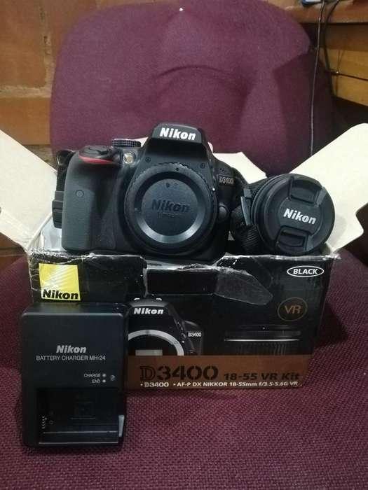Nikon D3400 con Memoria de 32gb