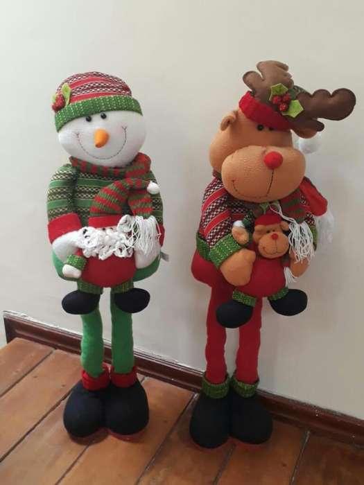Muñecos Navideños 80 Cm Altura Regulable