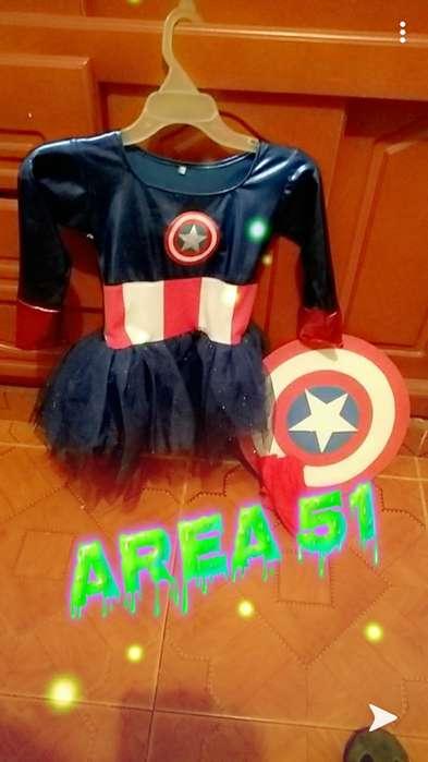 disfraz captan america para niña