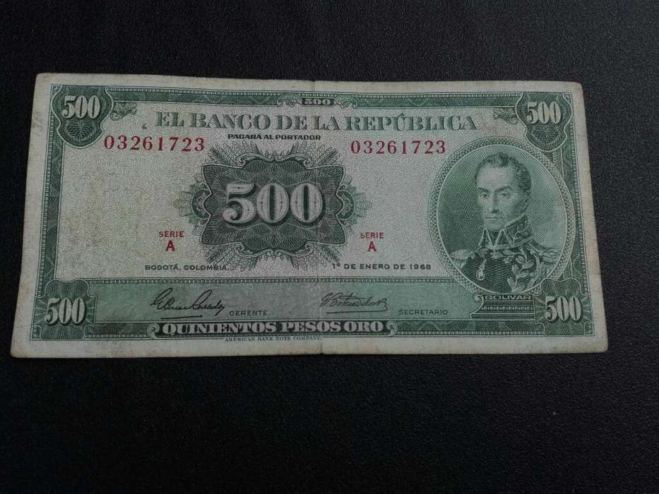 Billete de 500 Pesos.