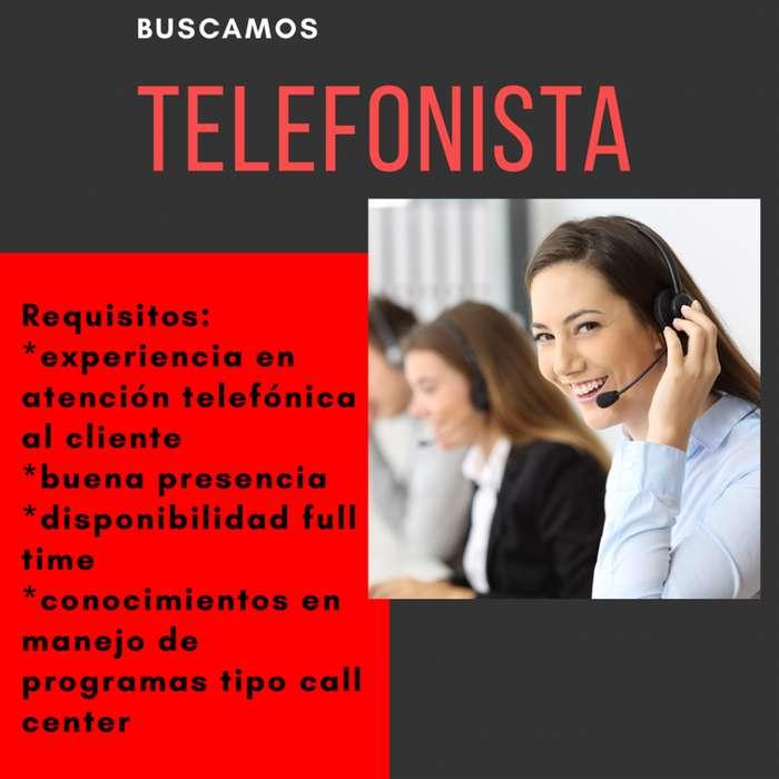 Telefonista para Importante Agencia de Remis