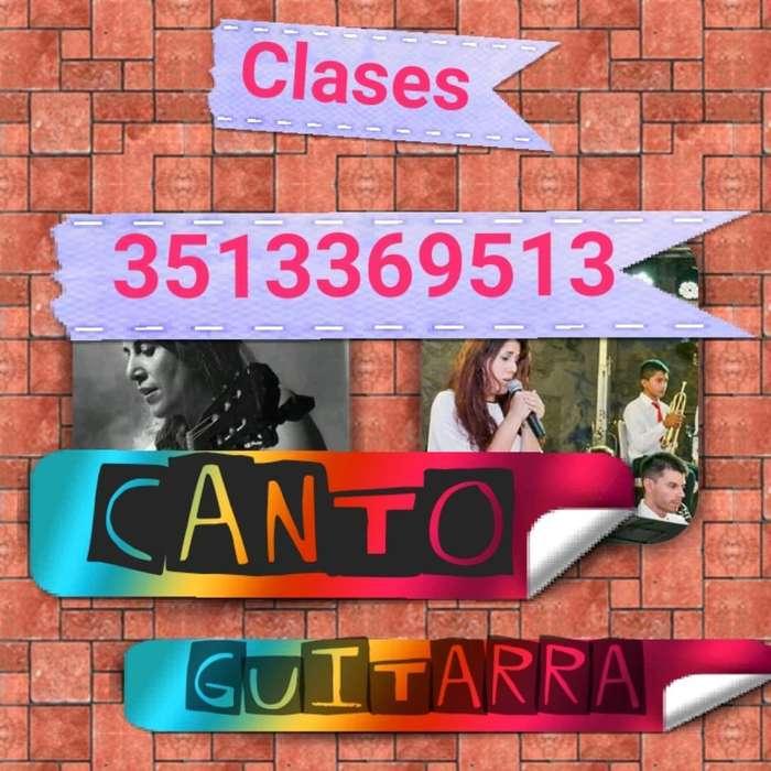 Clases Canto/guitarra Nva. Cba.