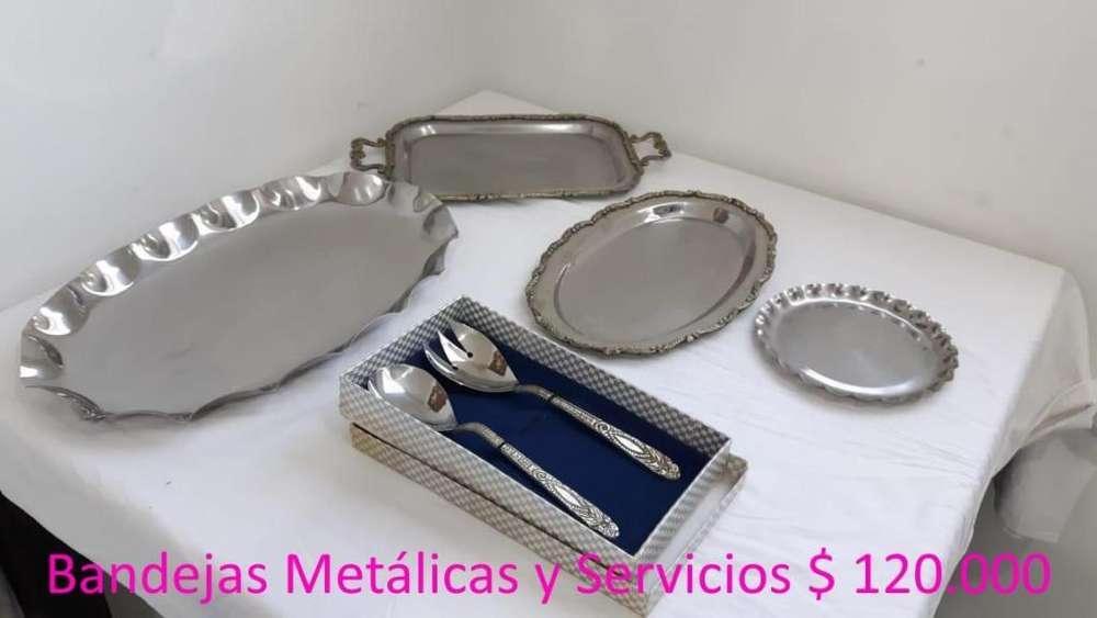Bandejas Metálicas y Servicios, 6 Piezas
