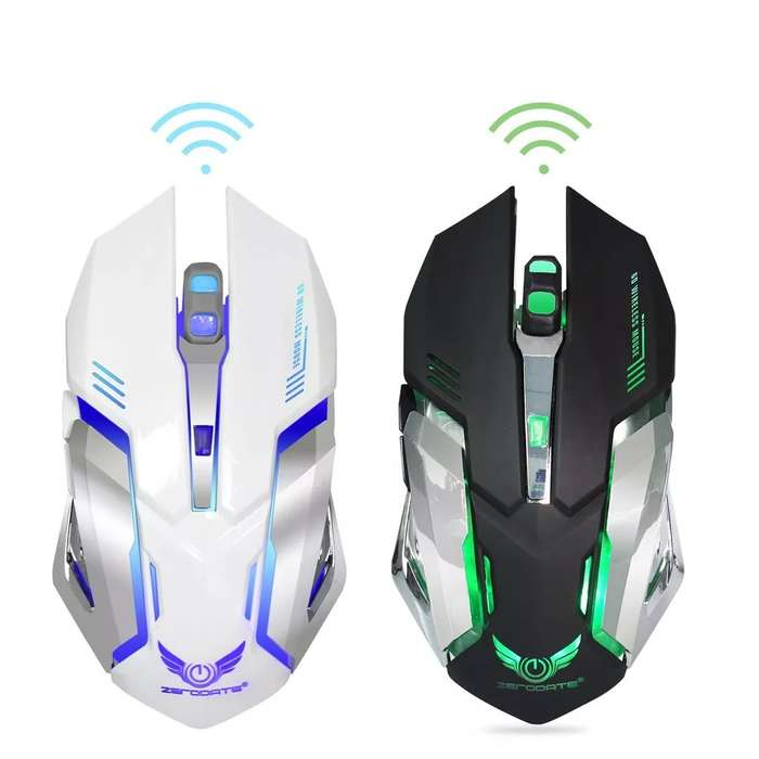 Mouse Gamer Inalambrico 10m 2.4ghz Optico Recargable 2400dpi