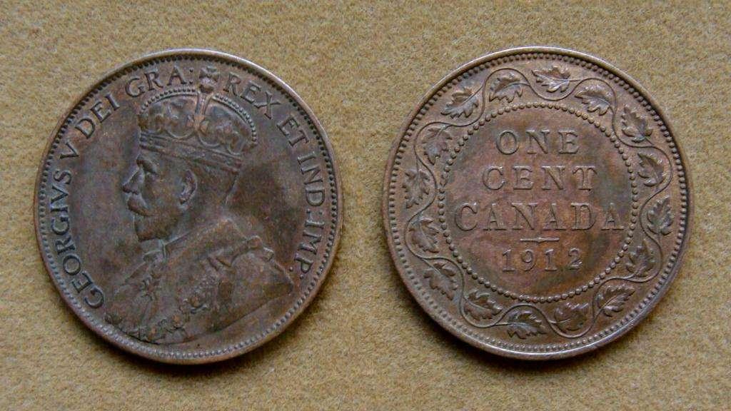 Moneda de 1 cent Canadá 1912