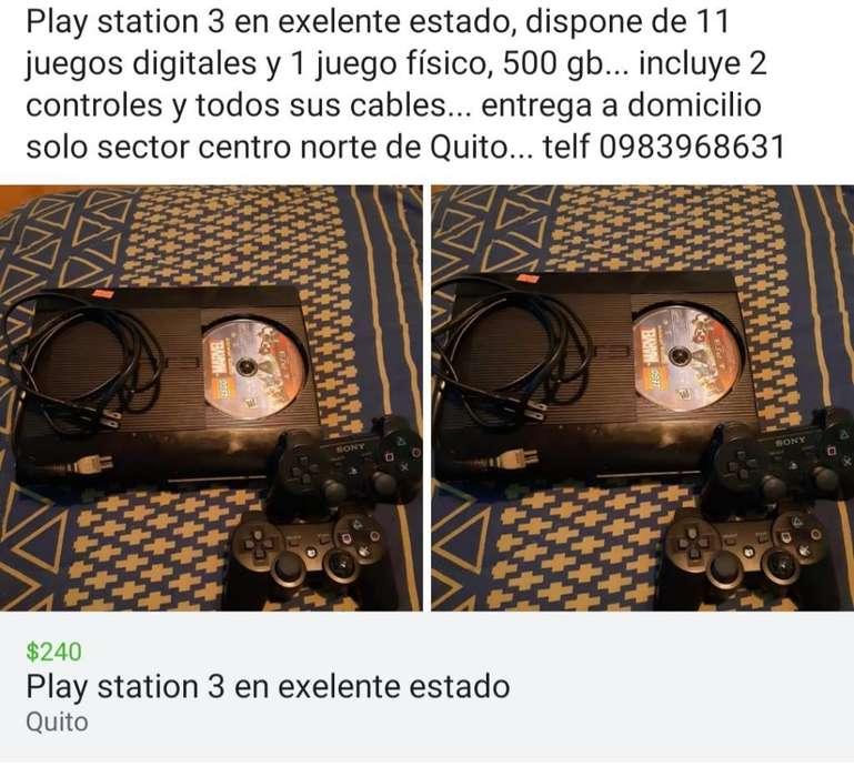 Play Station 3 Exelente Estado