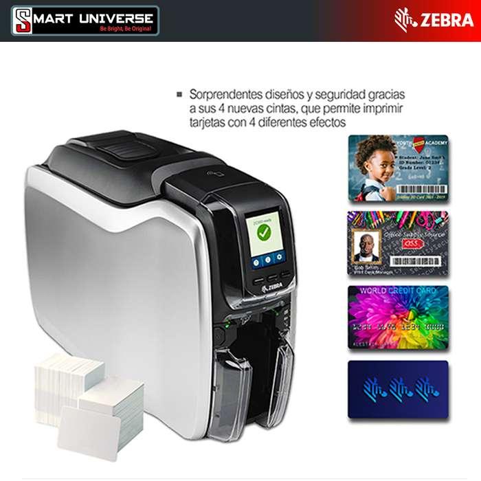 Impresora de Credenciales tarjetas PVC Zebra Zc300 Doble Cara Usb RED Selladas
