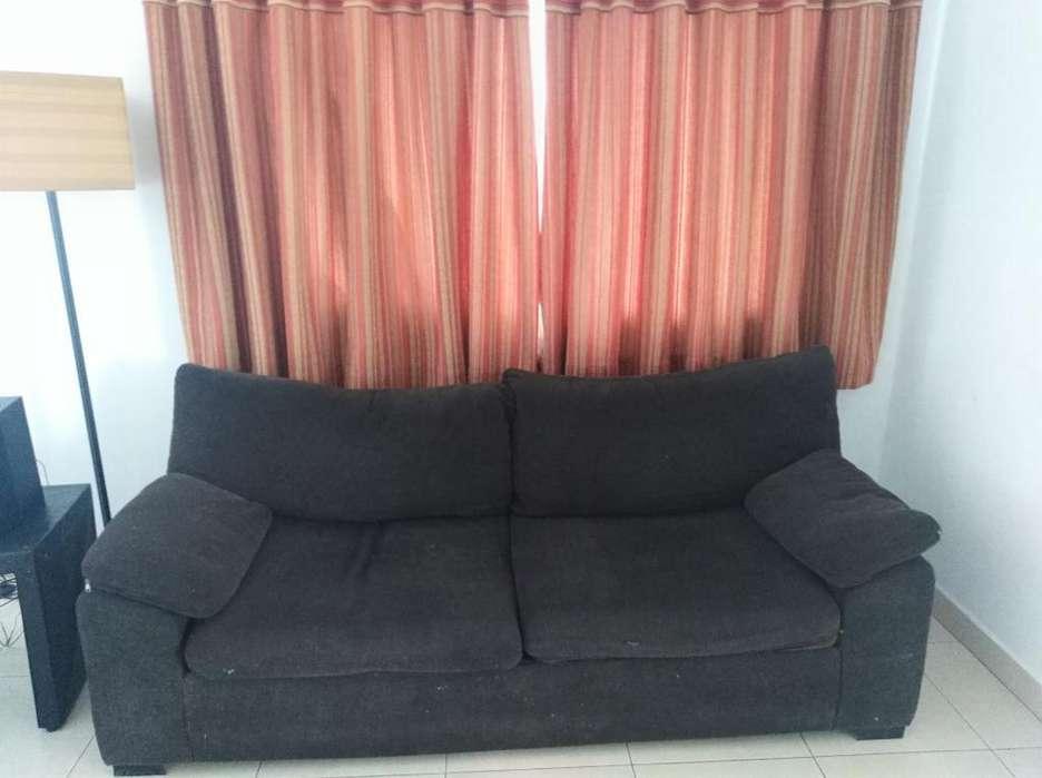 Sofa 2mts de 3 Cuerpos Chenil Chocolate