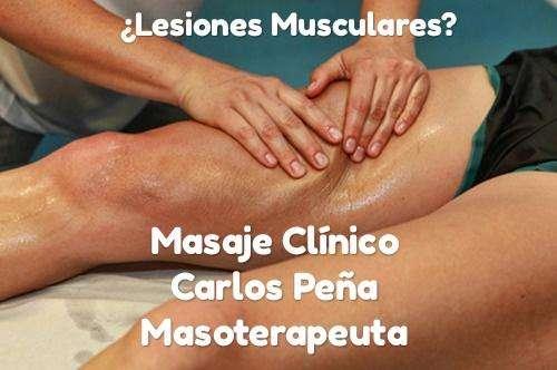 Masaje Clínico, Lesiones musculares ibague