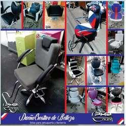 fabrica de muebles sillas de corte lavacabezas auxiliar recepcion puff para peluqueria spa barberia