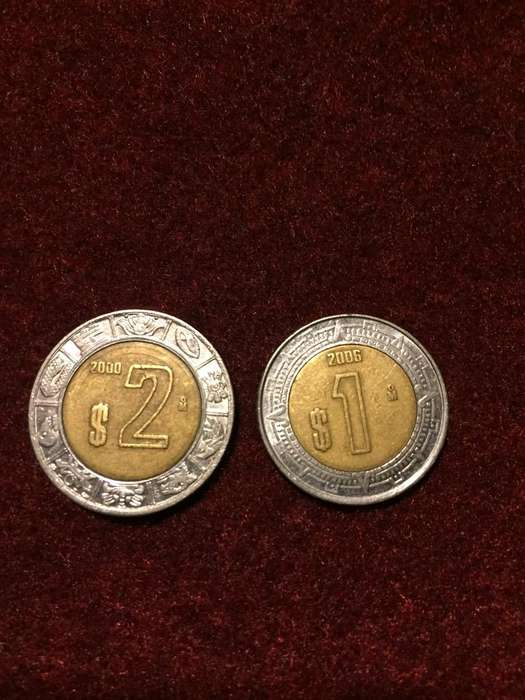 Lote de 2 Monedas Mexicanas