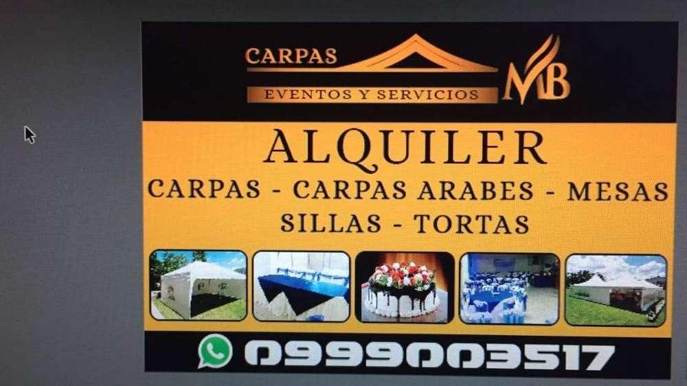 Alquiler de Carpas Inf. 0999003517