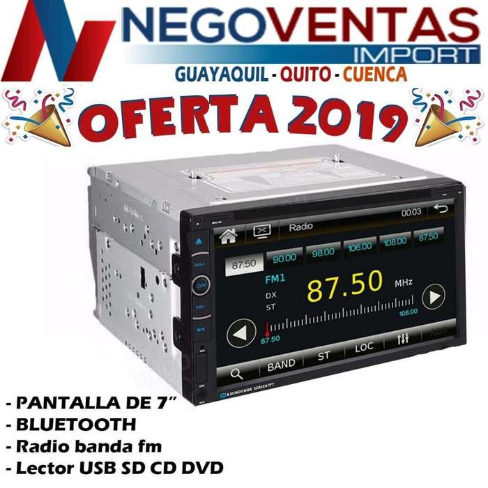 RADIO PANTALLA MP5 DE 6.5 PULGADAS PENDRIVE BLUETOOTH SD AUX FM USB PRECIO OFERTA 85,00