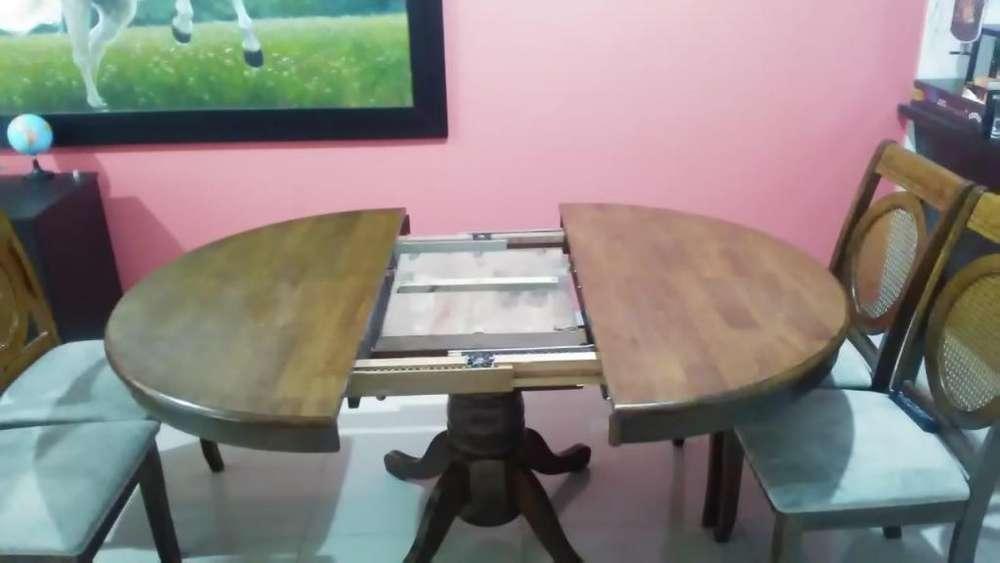 Mesa plegable de 4 a 6 ptos