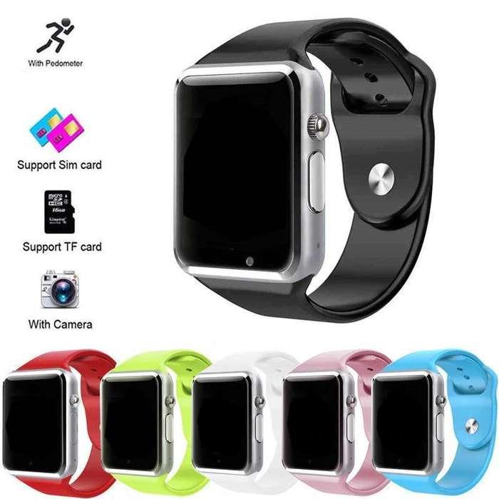 Reloj inteligente smartwatch modelo A1 conexion via bluetooth con entrada sim y micro sd. oferta ocasion para regalo