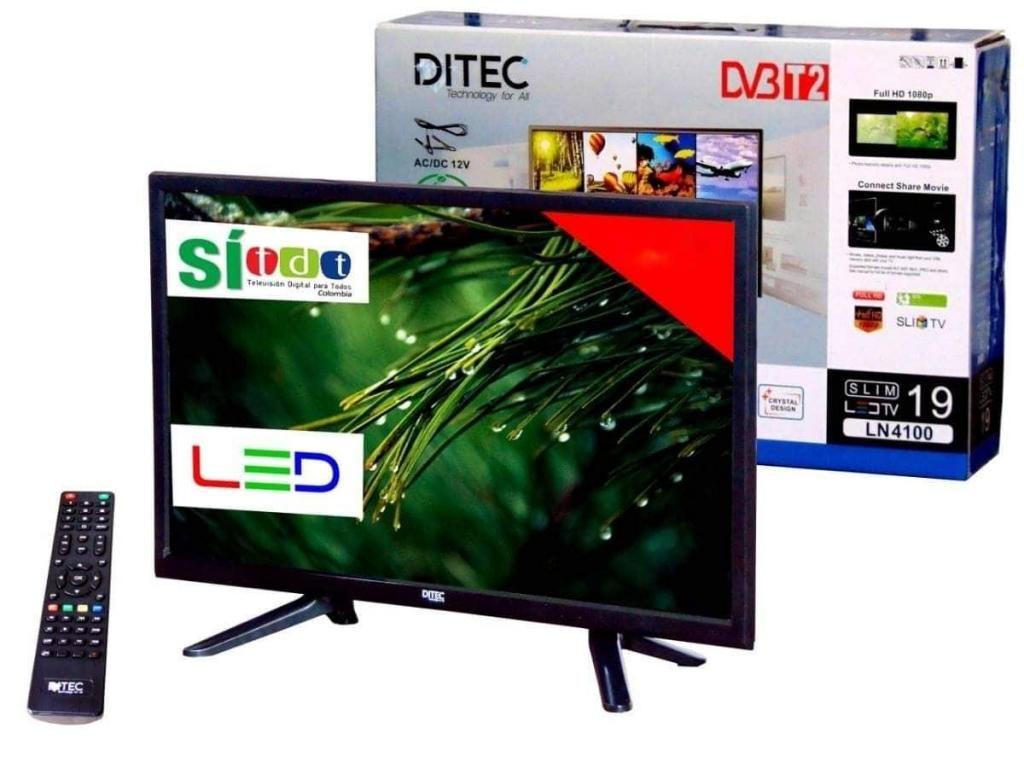 TELEVISOR 19 PULGADAS TDT DVB T2 FULL HD 1080P