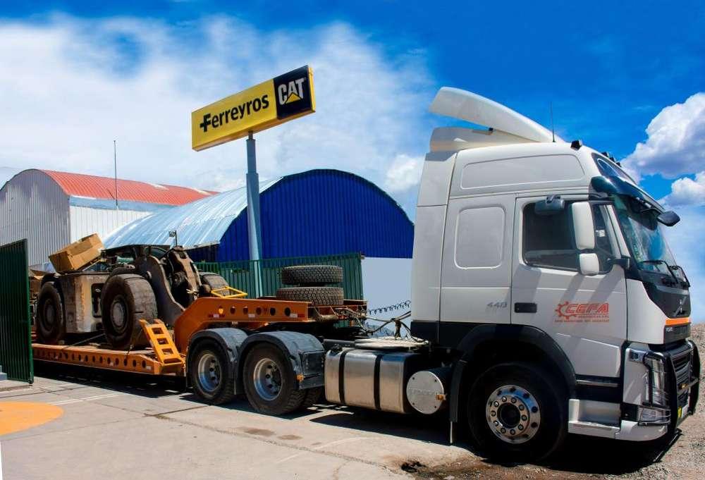 Transporte de Maquinaria - Transporte especializado a nivel nacional cama baja, cama cuna, encapsulado.