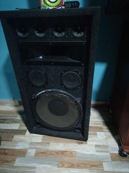 Amplificador con Parlantes 15''