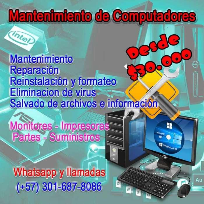 Reparaciones y mantenimiento de equipos de computo